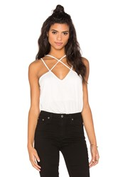 Rvca Haze Cut Out Tank White