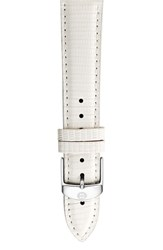 Michele Women's 16Mm Leather Watch Strap White Lizard