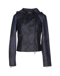 Silvian Heach Coats And Jackets Jackets Women Dark Blue
