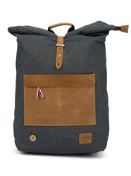 Faguo Blue Striped Canvas Cycling Backpack