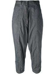 Rundholz Cropped Trousers Grey