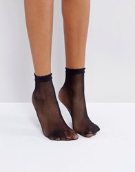 Gipsy Micro Fishnet Sock Black