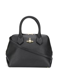 Vivienne Westwood Logo Plaque Tote Bag Black