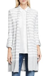 Vince Camuto Women's Two By Long Stripe Cardigan