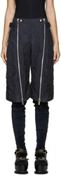 Sacai Navy Quilted Shorts