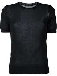Agnona Cashmere Knitted Top Black