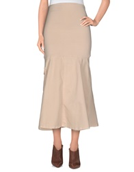 E Go Knee Length Skirts Beige