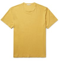 James Perse Combed Cotton Jersey T Shirt Yellow