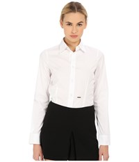 Dsquared Classic One Button Shirt White Women's Long Sleeve Button Up