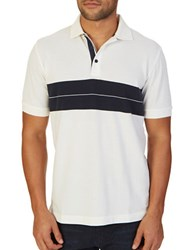 Nautica Classic Fit Block Striped Polo Shirt Marshmallow