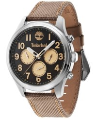 Timberland Men's Rollins Brown Nylon Strap Watch 46X54mm Tbl14477js61