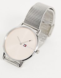 Tommy Hilfiger 1781970 Alex Mesh Watch In Silver