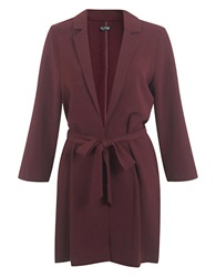 Miss Selfridge Crepe Duster Coat Red
