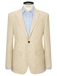 John Lewis Linen Regular Fit Suit Jacket Stone