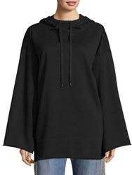 Kendall Kylie Cotton Oversized Hoodie Black