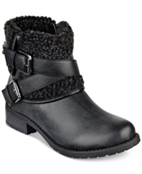 G By Guess Women's Duane Foldover Booties Women's Shoes Black