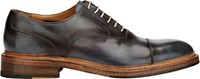 Harris Burnished Cap Toe Balmorals Blue