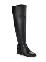 Cole Haan Valentia Leather Over The Knee Boots Black