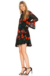 Ganni Newman Georgette Dress Black