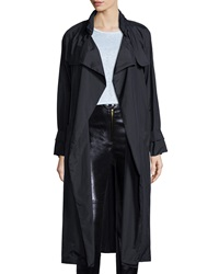 Isabel Marant Wrap Front Long Sleeve Trenchcoat Black