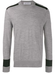 Neil Barrett Two Tone Jumper Grey