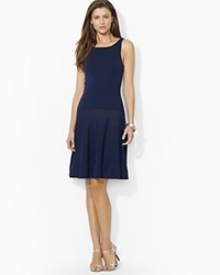 Lauren Ralph Lauren Fit And Flare Boat Neck Dress Capri Navy