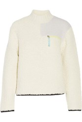 Alexander Wang T By Boucle Knit Sweater Ivory