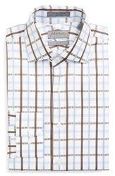 Men's John W. Nordstrom Trim Fit Plaid Dress Shirt