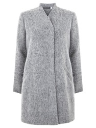 Mint Velvet Textured Coat Grey