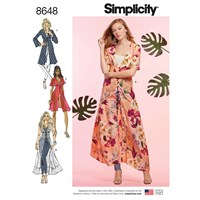Simplicity 'S Kimono Dress Sewing Pattern 8648