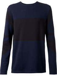 Helmut Lang Colour Block Sweater Black