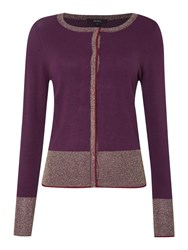 Therapy Cardigan With Contrast Trim Pink