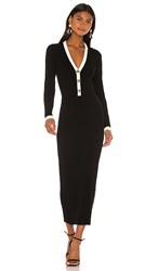 Torn By Ronny Kobo Mirella Dress In Black And White. Black And White