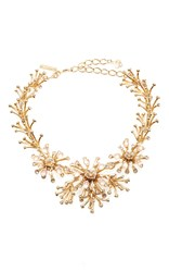 Oscar De La Renta Galaxy Coral Necklace Gold