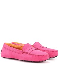 Tod's Exclusive To Mytheresa.Com Gommino Suede Loafers Pink