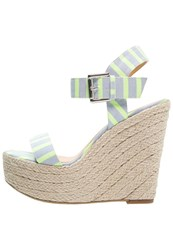 Only Shoes Onlamy Wedge Sandals Light Blue Neon Yellow