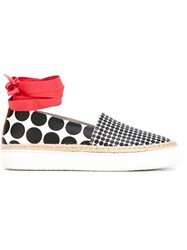 Pierre Hardy 'Baskedrille' Slip On Sneakers Black