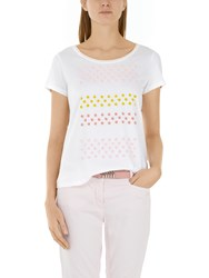 Marc Cain Beaded Floral T Shirt White