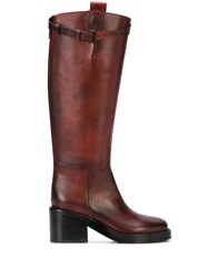 Ann Demeulemeester Burnished Riding Boots 60