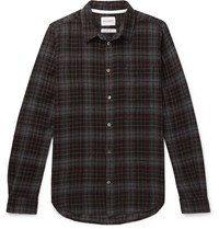 Norse Projects Osvald Checked Wool Gauze Shirt Gray