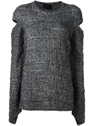 Lost And Found Ria Dunn Cold Shoulder Jumper Grey
