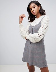 Abercrombie And Fitch Pinafore Dress In Check Multi
