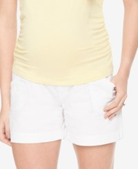Motherhood Maternity Cargo Shorts White