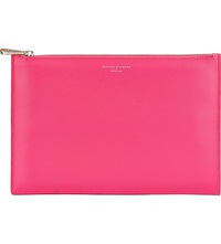 Aspinal Of London Essential Large Leather Pouch Pink