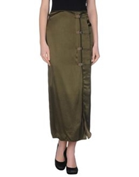 Philosophy Di Alberta Ferretti Long Skirts Military Green