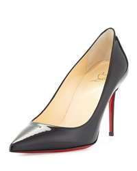 Christian Louboutin Decollete Patent Leather Red Sole Pump Black