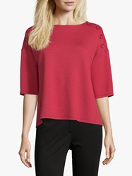 Betty Barclay Button Trimmed Top Red Scarlet