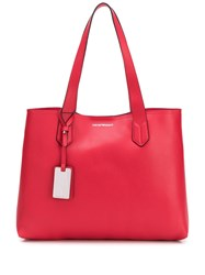 Emporio Armani Shopping Tote Bag Red