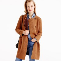 J.Crew Collection Bonded Knit Sweater Coat