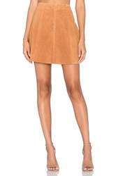 Egrey Braid Mini Skirt Burnt Orange